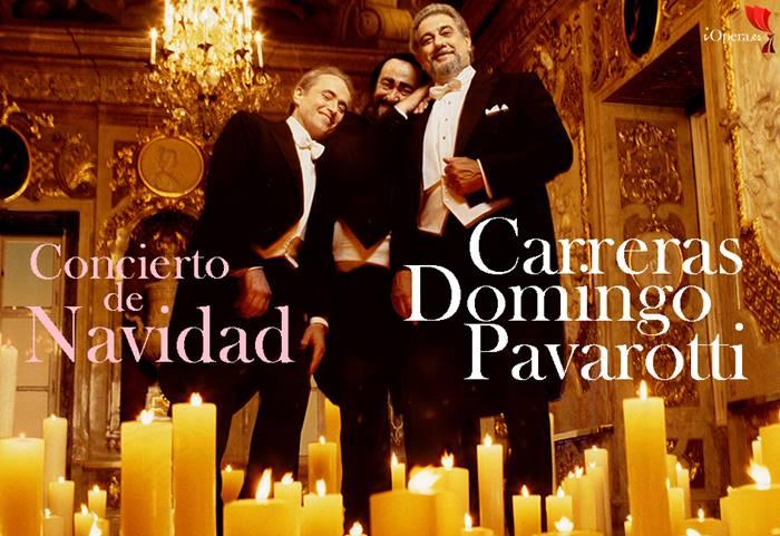 Concierto de Navidad de los tres tenores Luciano Pavarotti, Plácido Domingo y José Carreras, vídeo desde Viena