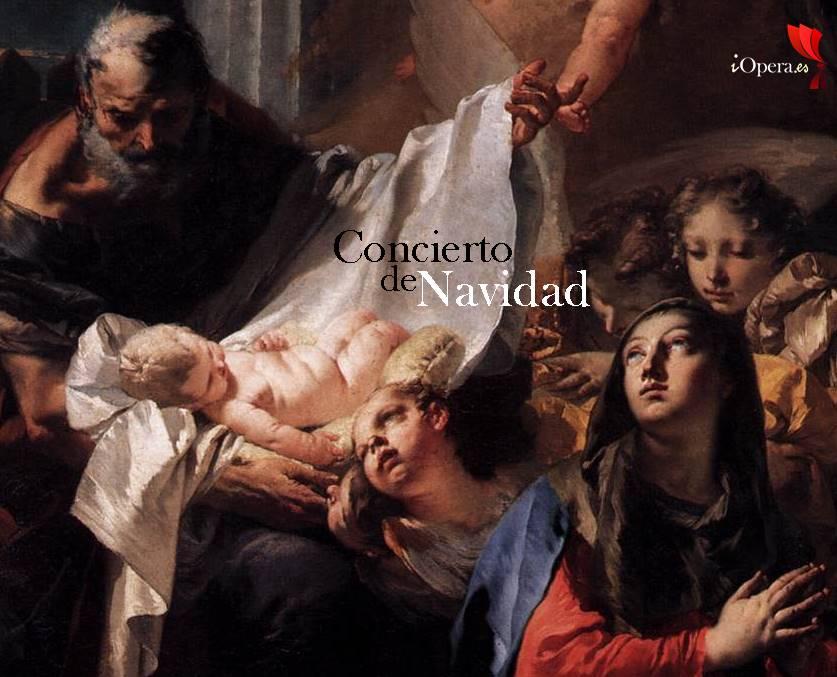 Concierto de Navidad en París Natividad 1732, Giovanni Battista Tiepolo. Óleo sobre lienzo. Basílica de San Marcos, Venecia, Italia