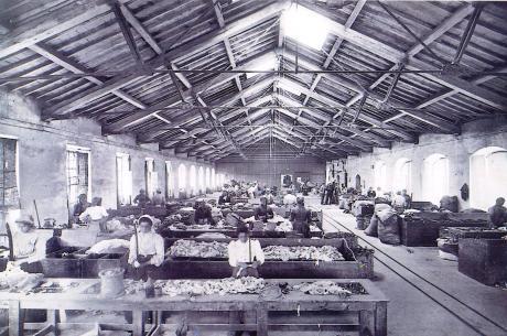 storia aziendale, Scelta cenci alla cartiera Binda di Vaprio, 1910 (Foto Mario Chignoli), storia d'impresa