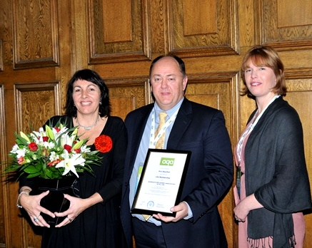 Mandy & Eric Souchon with AQA President, Andrea Cave