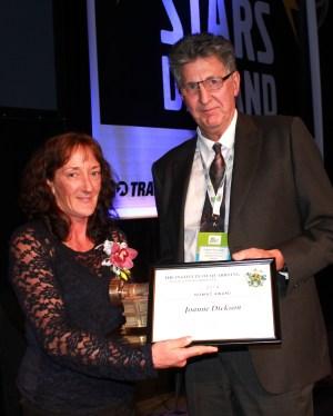Joanne Dickson, 2014 recipient of the Niemac Award