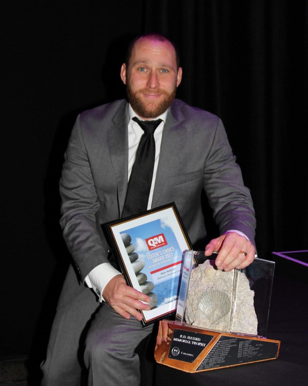 Matt Webster with RD  Hassed Memorial Trophy