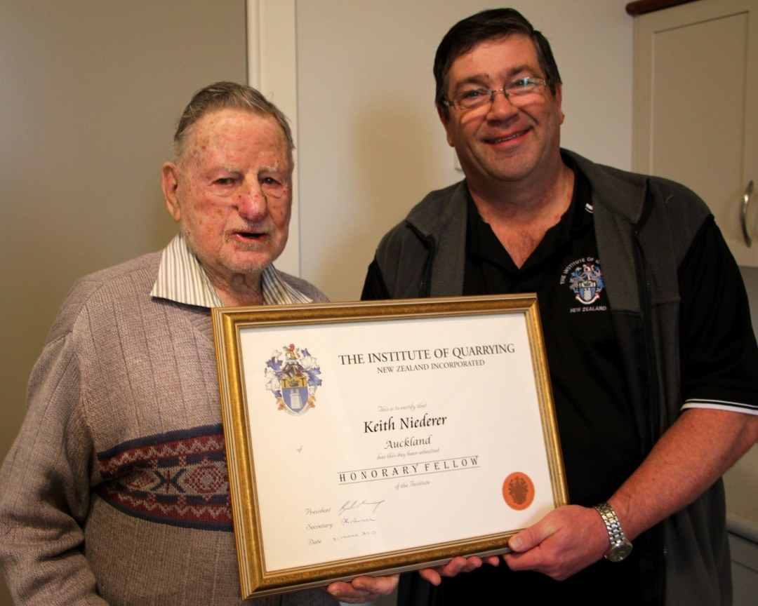 Keith Niederer was made an Honorary Fellow in July 2015 for incredible service to the industry