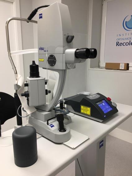 Láser Yag. Instalaciones y equipación para los problemas oculares del Instituto Oftalmológico Recoletas.