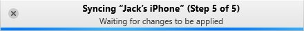 iTunes Adicionar fotos ao processamento do iPhone