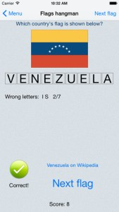 flags hangman iphone game review ss2