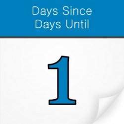 days since days until iphone