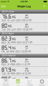 my weight tracker pro iphone app review ss2