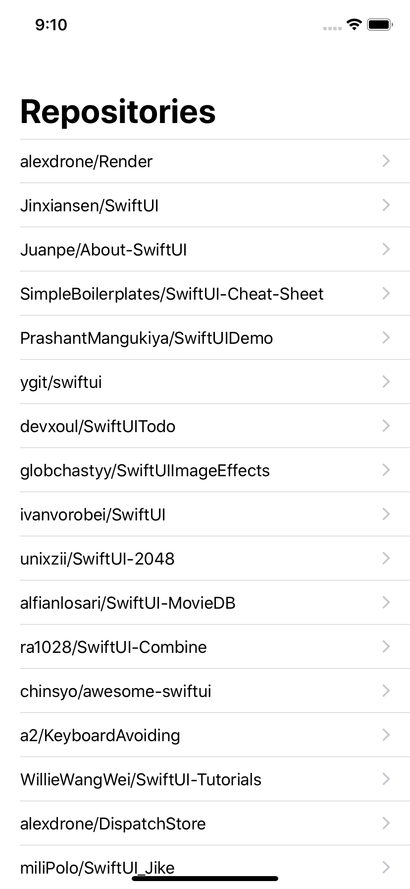 Sample iOS project built by SwiftUI + MVVM and Combine