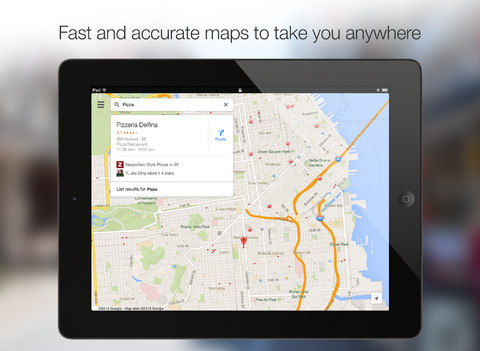 google maps ipad