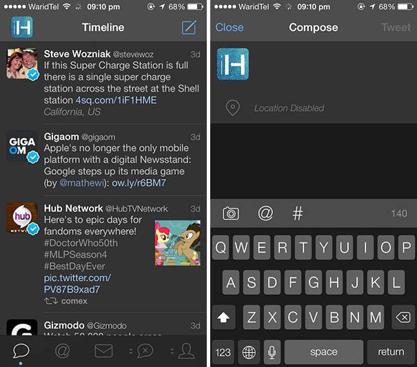 Tweetbot night theme