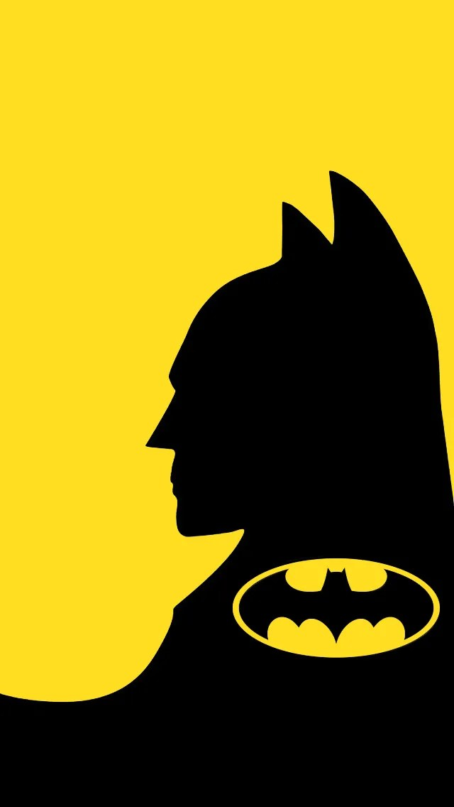 batman wallpaper yellow iOS
