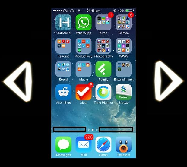 iOS homescreen navigation 1