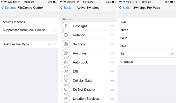FlipSwitchCenter tweak