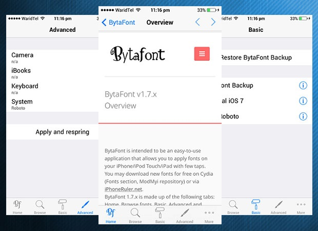 how to change font in facebook app