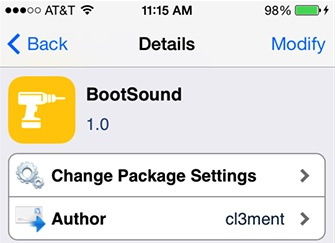Bootsound tweak