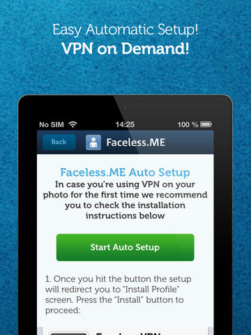 Faceless VPN Connection app