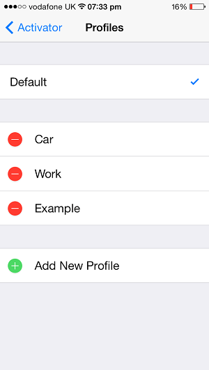 Activator profile