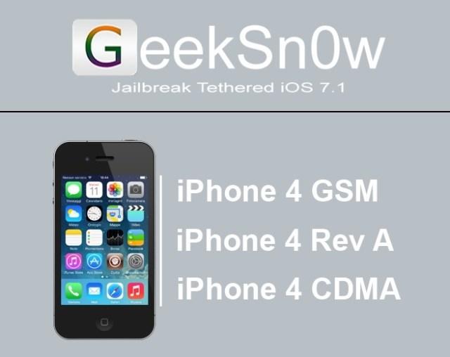 GeekSn0w tool for iOS 7-1-1
