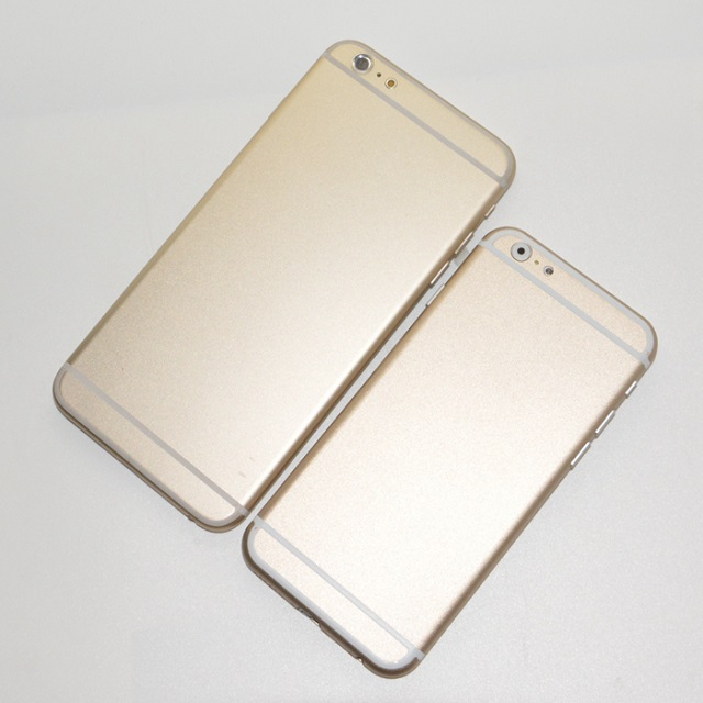 iPhone 6 gold mockups back
