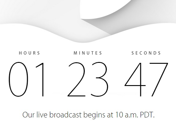 Apple event countdown