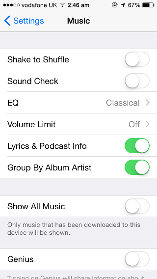 Show all Music iOS