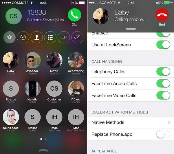 CallBar iOS 8 (2)