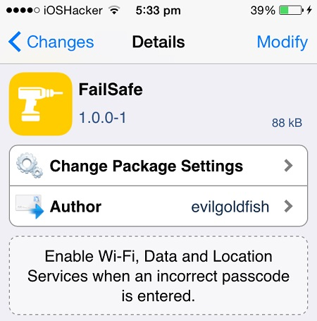 FailSafe tweak