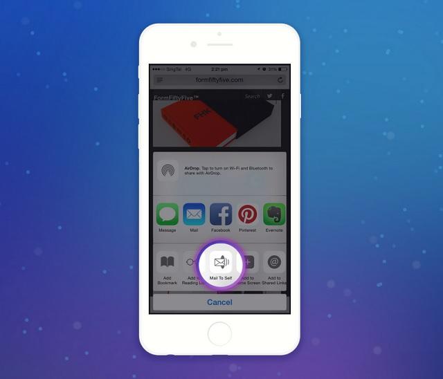 MailToSelf app