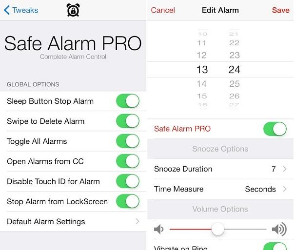 Safe Alarm Pro tweak