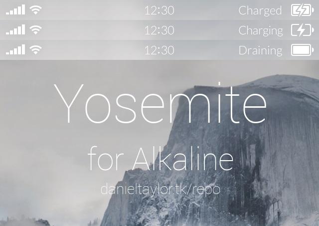 Yosemite for Alkaline theme
