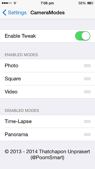 CameraModes tweak (1)