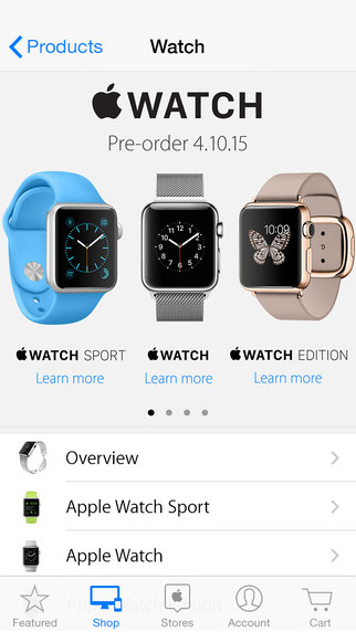 Apple Store app watch
