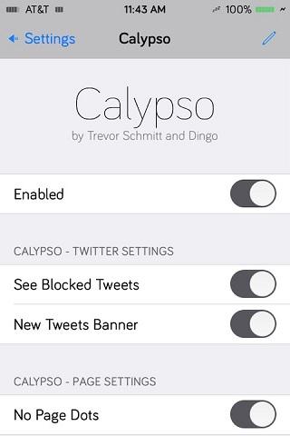 Calypso tweak