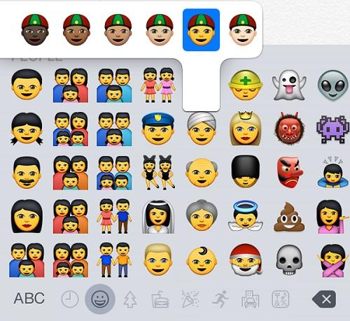 Emojis iOS 8.3