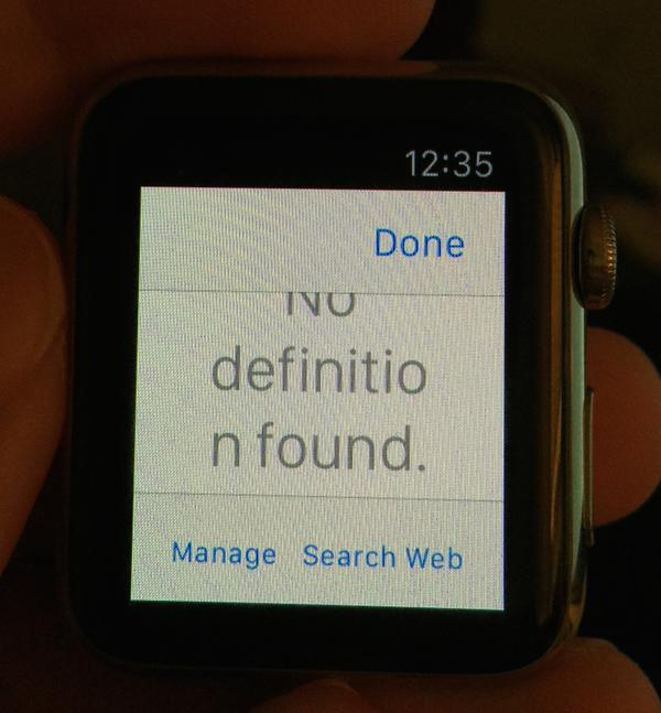 Watch dictionary iOS