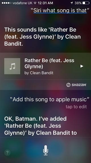 Apple Music Shazam
