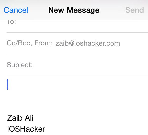 Email signature iOS main