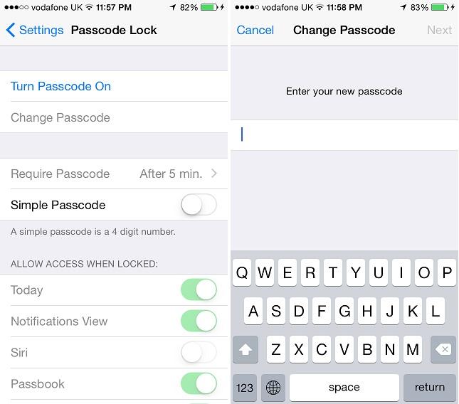 Complex passcode 3
