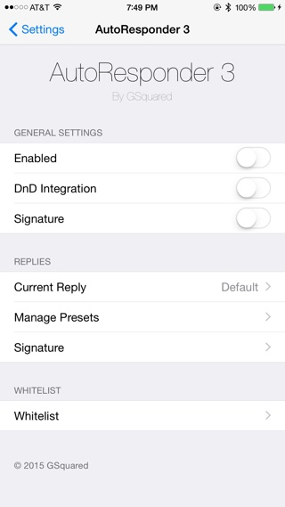 AutoResponder 3 tweak