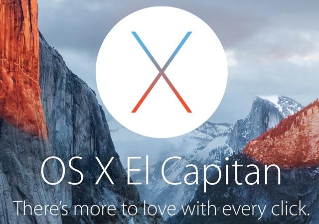 OS X El Capitan main