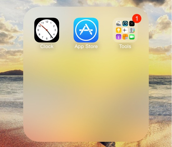 Folder into Folder iOS 9