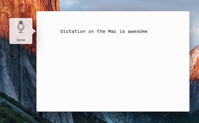 Mac dictation feature