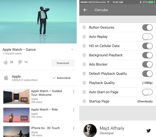 Cercube 3 lets you download youtube videos on ios 9 devices ios hacker a lot of people who use youtube on their ios devices say that one of their most wanted feature is the ability to download their favorite videos and store ccuart Images