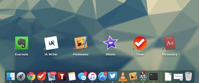 Mac desktop icon shortcuts