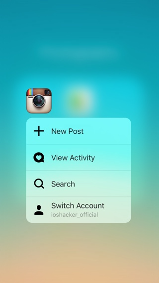 Instagram 3D Touch icon