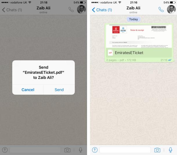 WhatsApp PDF Share iOS 3