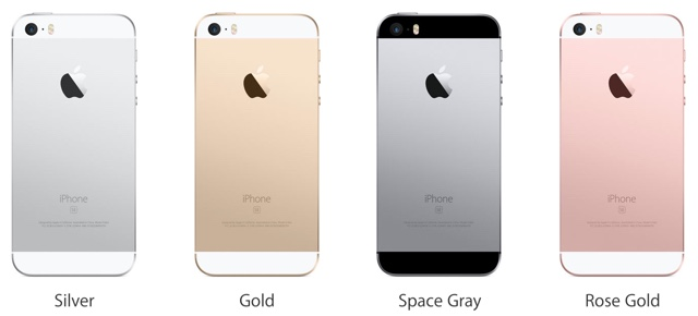 iPhone SE Colors