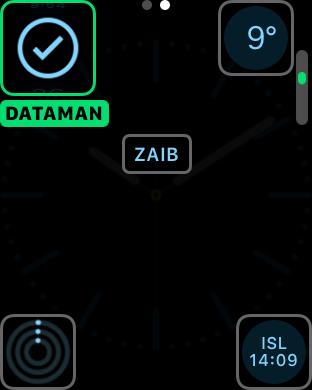 Apple Watch DataMan complication 1