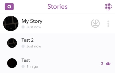My Story views